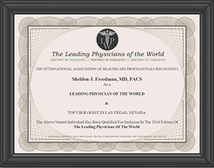 Leading Physicians of the World certificate